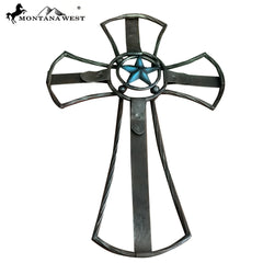 RSD-1698 Montana West Texas Lonestar Metal Wall Cross 20""