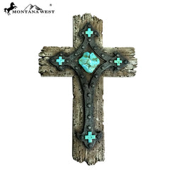 RSD-1856 Montana West Rustic Resin Texture Wall Cross 12""