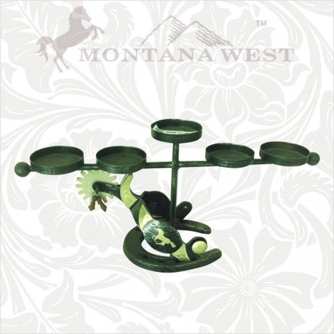 RSH-004 Montana West Western Spurs Five Candles Holder