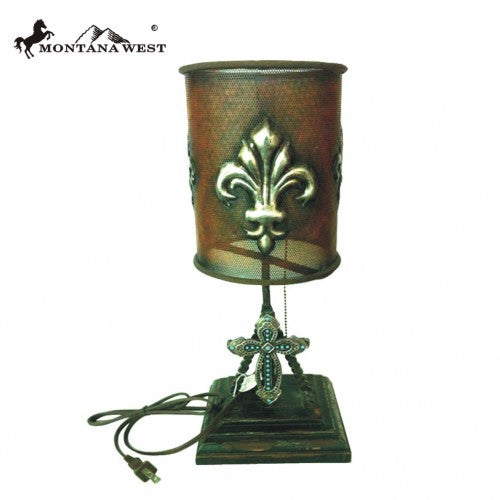 RSM 062 Montana West Fleur De Lis Tabletop Night Light Lamp R