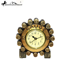 RSM-1716 Montana West Gauge Shotgun Shell Desk Clock