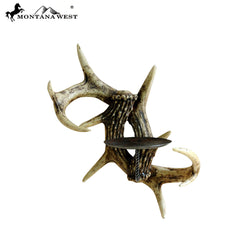 RSM-1738 Montana West Antler Resin Candle Holder