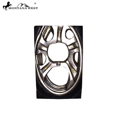 RSM-1740 Montana West Racing Sports Car Wheel Double Switch Plate Cover by Piece