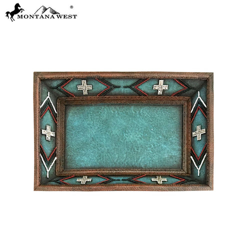 RSM-1744 Montana West Turquoise Aztec Design Resin Tray