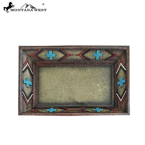 RSM-1745 Montana West Brown Aztec Design Resin Tray