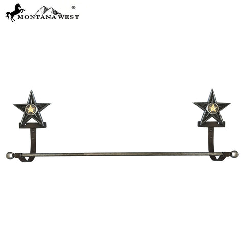 RSM-1791 Montana West Western Metal Lonestar Towel Rack