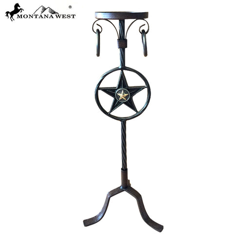 RSM-1804  Montana West Western Metal Lonestar Candle Holder