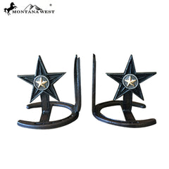 RSM-1806 Montana West Metal Lone-Star Book Ends