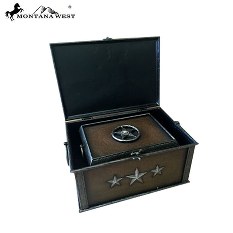 RSM-1807 Montana West Lonestar Metal Jewlery Box in 2 PC Set