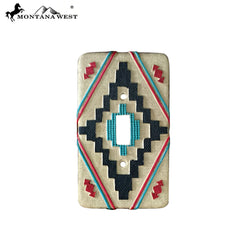 RSM-1835 Montana West Aztec Pattern Single Switch Plate Cover By Piece