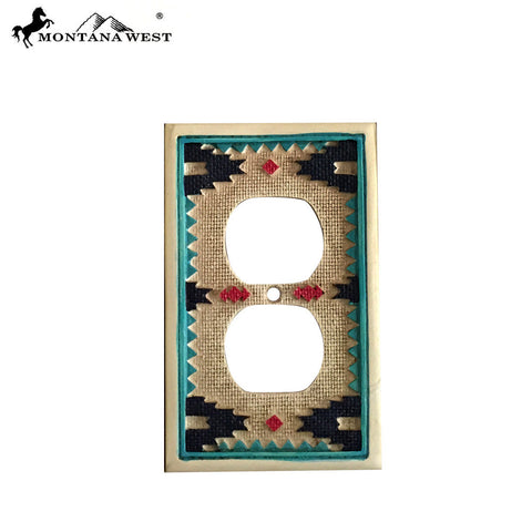RSM-1836 Montana West Aztec Pattern Double Switch Plate Cover By Piece