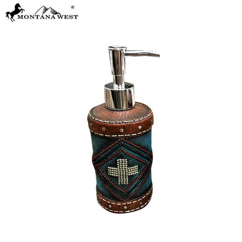 RSM-1880 Montana West Leather-Like Resin Soap/Lotion Dispenser