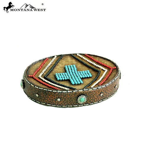 RSM-1883 Montana West Letaher-Like Aztec Design Resin Soap Dish