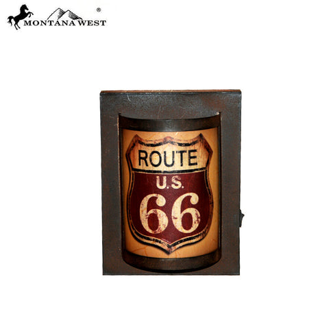 RSM-2001 Montana West Cast Iron Route U.S. 66 LED Light