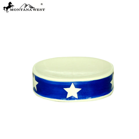 RSM-2006 Montana West Patriotic Stars Ceramic Soap Dish
