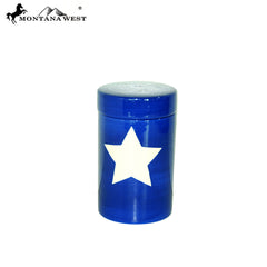 RSM-2008 Montana West US Flag Ceramic Storage Jar