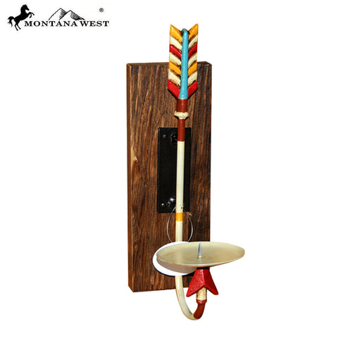 RSM-2039 Montana West Aztec Arrow Wall Mount Candle Holder
