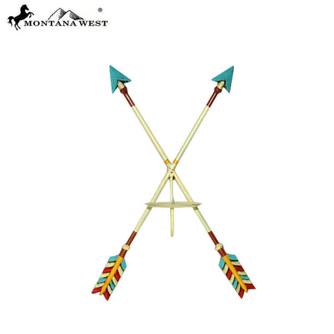 RSM-2060 Montana West Aztec Double Metal Arrow Candle Holder
