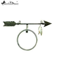 RSM-2062 Montana West Arrow Cast Iron Towel Ring