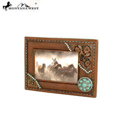 RSP-1610 Montana West Brown Floral Resin Photo Frame