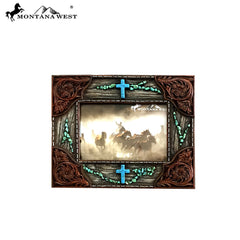 RSP-1673 Montana West Brown Floral Resin Photo Frame
