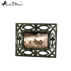 RSP-1691 Montana West Christian Fish Symbol Resin Texture Photo Frame