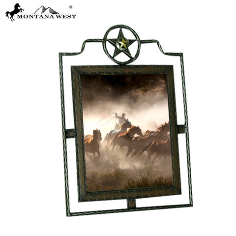 "RSP-1786 Montana West Metal Lonestar Photo Frame  11""*15"""