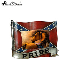 RSP-1832 Montana West Rebel Flag Shape Resin Photo Frame