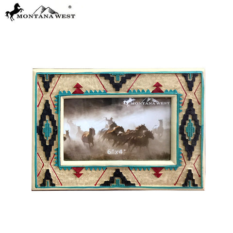 RSP-1842 Montana West Aztec Pattern Resin Photo Frame