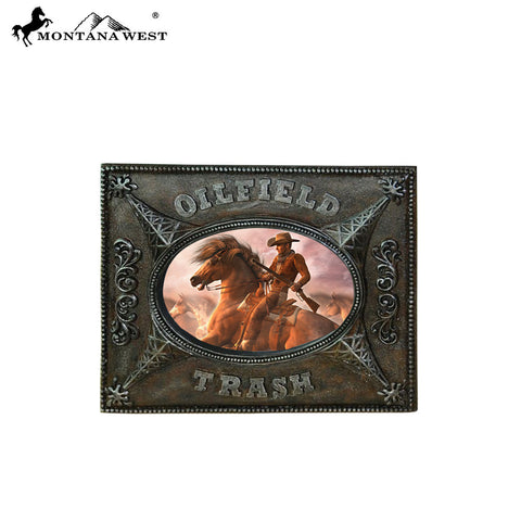 "RSP-225 Montana West ""OILFIELD TRASH"" Bronze Resin Photo Frame"