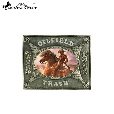 "RSP-226 Montana West ""OILFIELD TRASH"" Silver Resin Photo Frame"