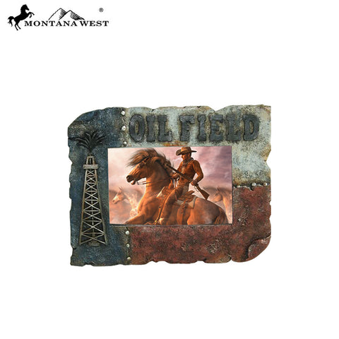 "RSP-228 Montana West Texas ""OILFIELD"" Resin Photo Frame"