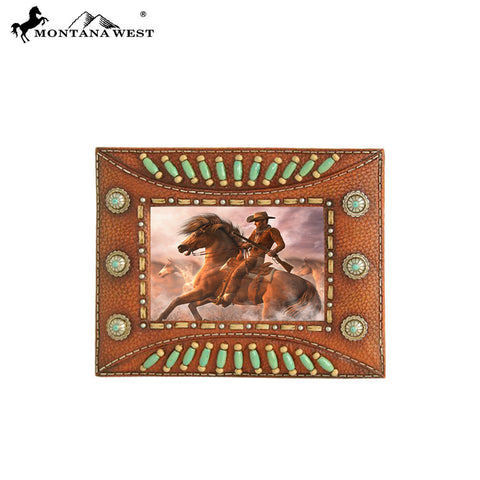 RSP-230 Montana West Indian Beaded Resin Photo Frame - Brown