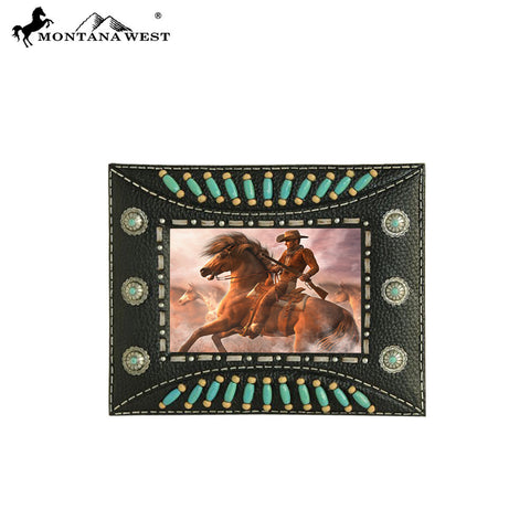 RSP-231 Montana West Indian Beaded Resin Photo Frame - Black