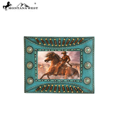 RSP-232 Montana West Indian Beaded Resin Photo Frame - Turquoise