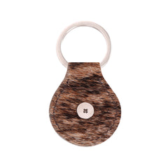RYS-229A  Montana West Real Leather Hair-On Cowhide Buffalo Concho Key Fob/Key Chain  1Pcs