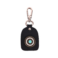 RYS-242C  Montana West Real Leather Turquoise Stone Concho Key Chain 1Pcs