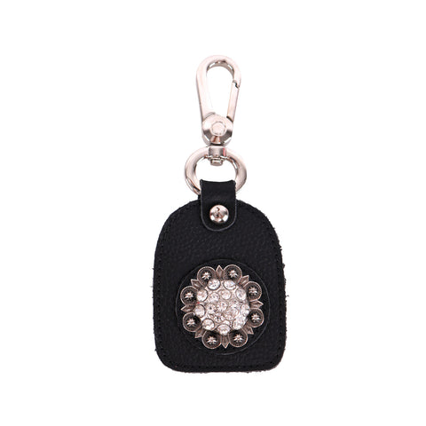 RYS-243  Montana West Real Leather Rhinestones Berry Concho Key Chain 1Pcs