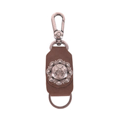 RYS-269  Montana West Real Leather Double Pistol Concho Key Chain 1Pcs