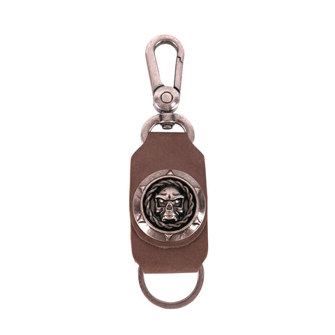 RYS-270  Montana West Real Leather Skull Concho Key Chain 1Pcs