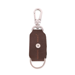 RYS-283  Montana West Real Leather Double Pistol Concho Key Chain 1Pcs