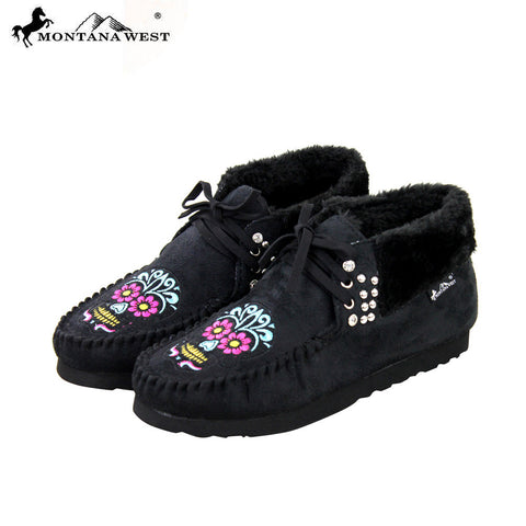 SBT-003 Montana West Moccasins Sugar Skull Collection