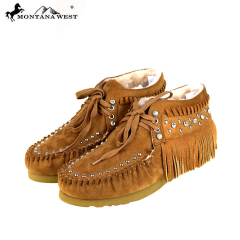 SBT-014  Montana West Moccasins Fringe Collection