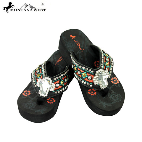 SE08-S008 Montana West Flip-Flops Spiritual Collection By Size