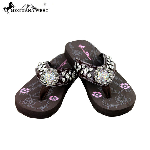 39546b56dca3 SE17-S001 Bling Bling Collection Flip Flops BY CASE (Thin Sole)