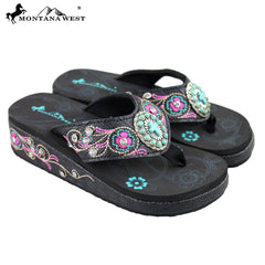 SE19-S098 Embroidered Collection Flip Flops BY CASE