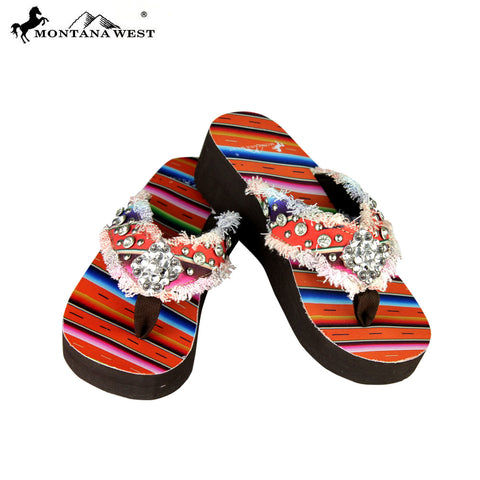 SE36-S002 Montana West Serape Flip-Flops Collection By Size