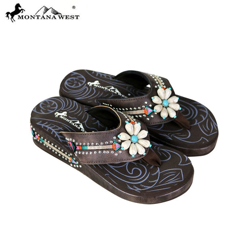 SE67-S160 Montana West Floral Flip-Flops Collection