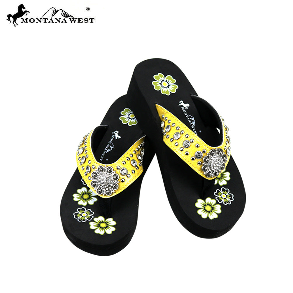 0ea1b831a3c2 SE73-S001 Bling Bling Collection Wedge Flip Flops By Case – MONTANA ...