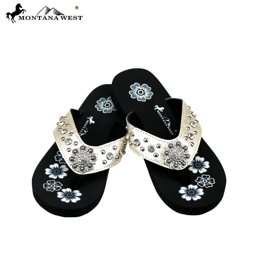 b5bc1e906302 SE77-S001 Bling Bling Collection Flip Flops (Thin Sole) By Case ...